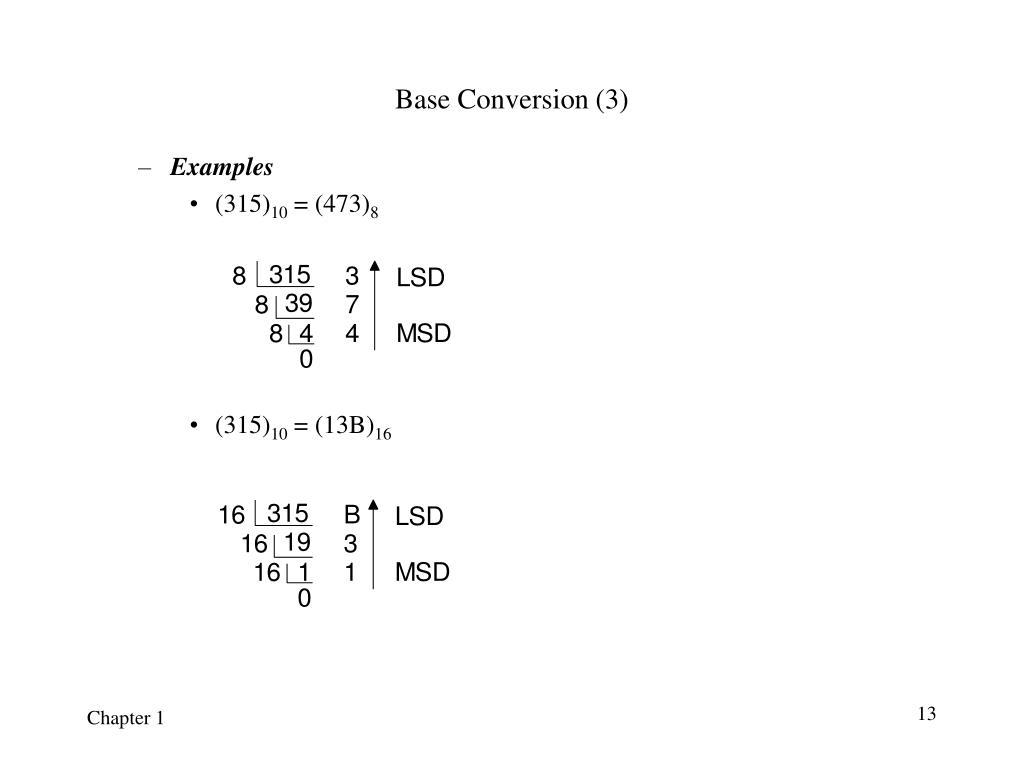 Base Conversion (3)