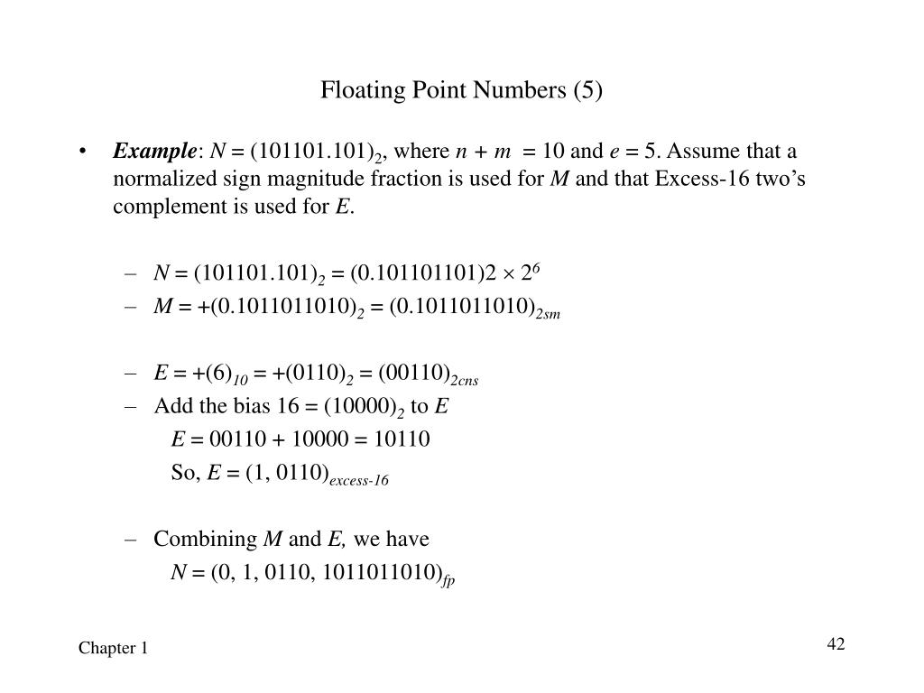 Floating Point Numbers (5)