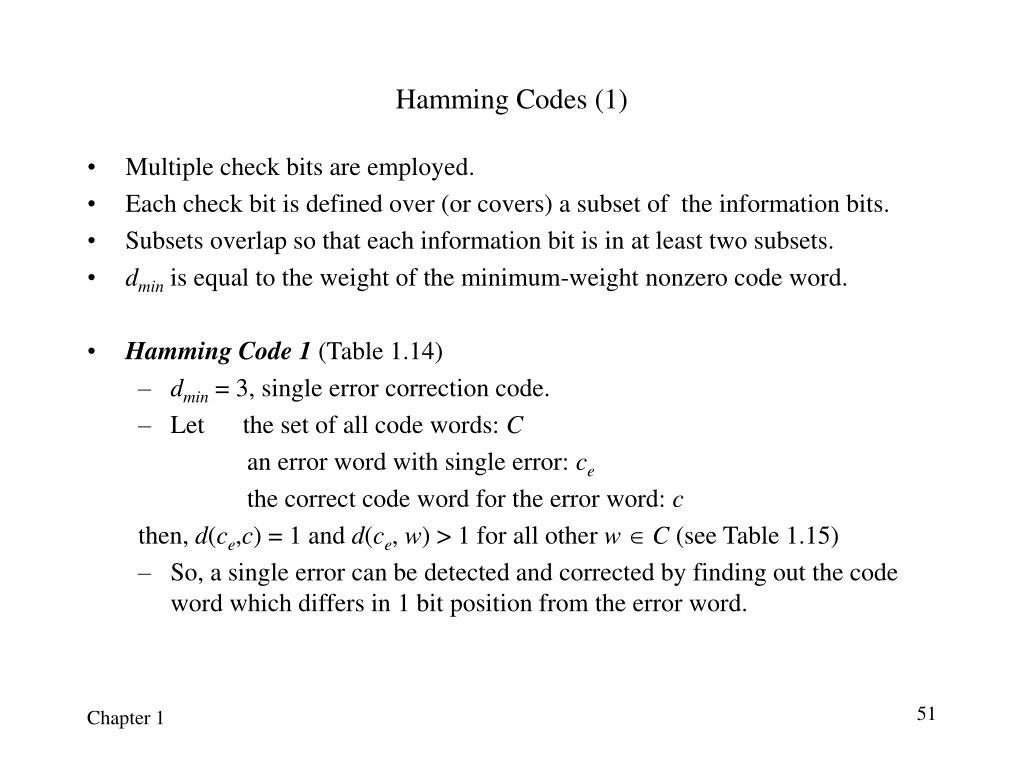 Hamming Codes (1)
