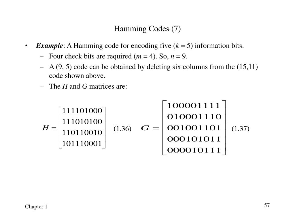 Hamming Codes (7)