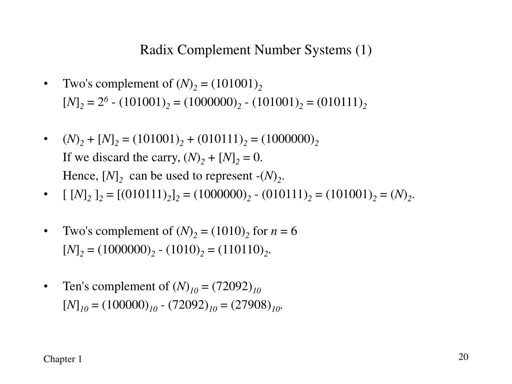 Radix Complement Number Systems (1)