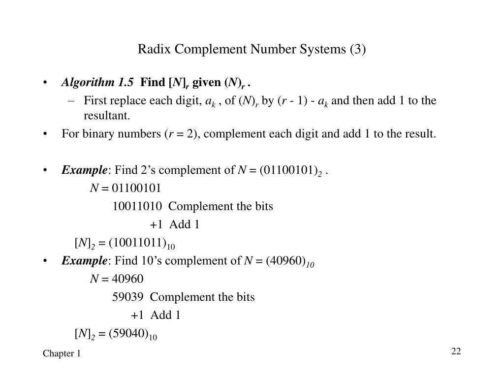 Radix Complement Number Systems (3)