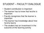 student faculty dialogue