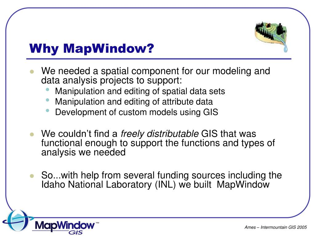 PPT - Going Open Source: Migrating EPA's BASINS to MapWindow