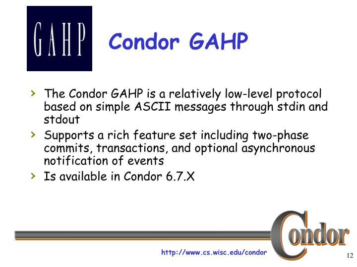 Condor GAHP