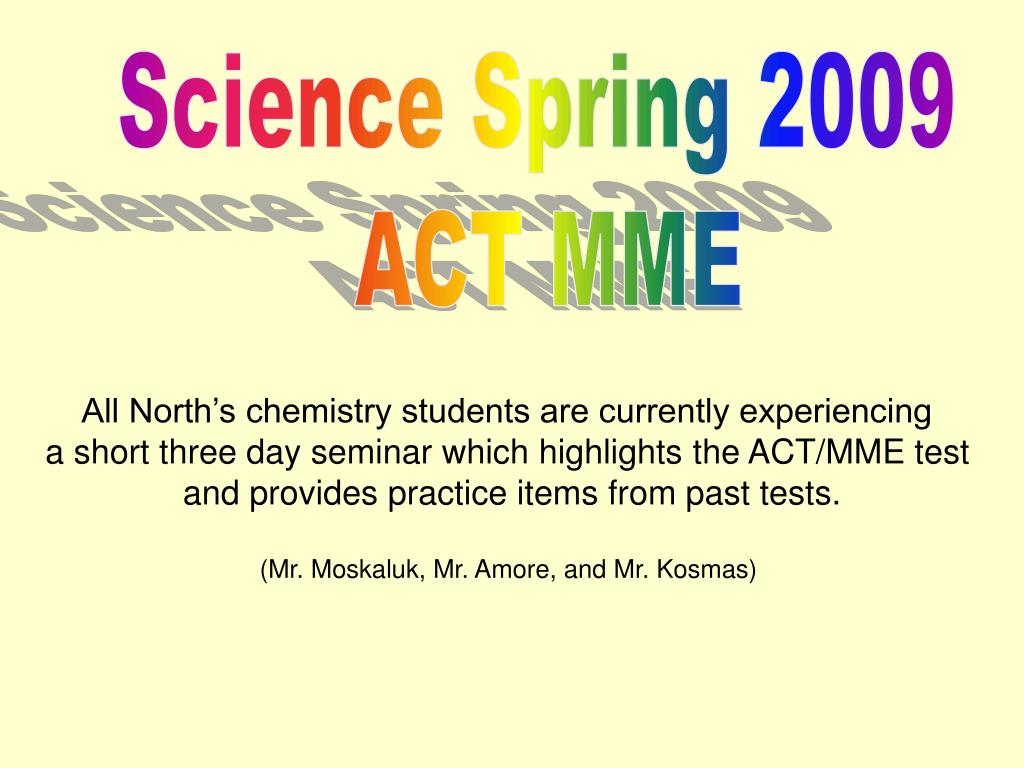 Science Spring 2009