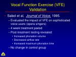 vocal function exercise vfe validation77