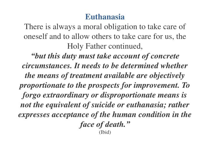an introduction to the positive effects of euthanasia a mercy death Ethics of euthanasia - introduction this article introduces the debate around euthanasia a person who undergoes euthanasia usually has an incurable condition but there are other instances very often people call euthanasia 'mercy killing', perhaps thinking of it for someone who is terminally.