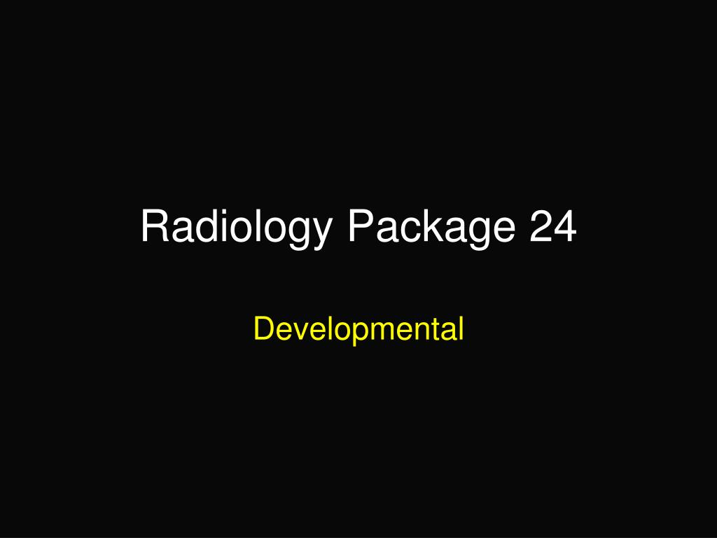radiology package 24 l.