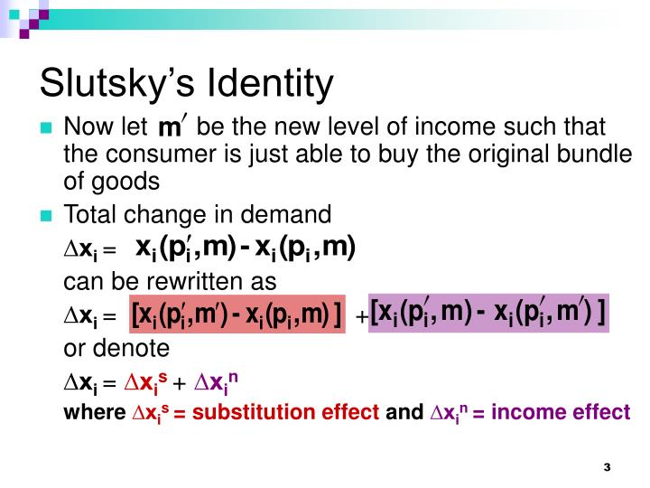 Slutsky s identity3