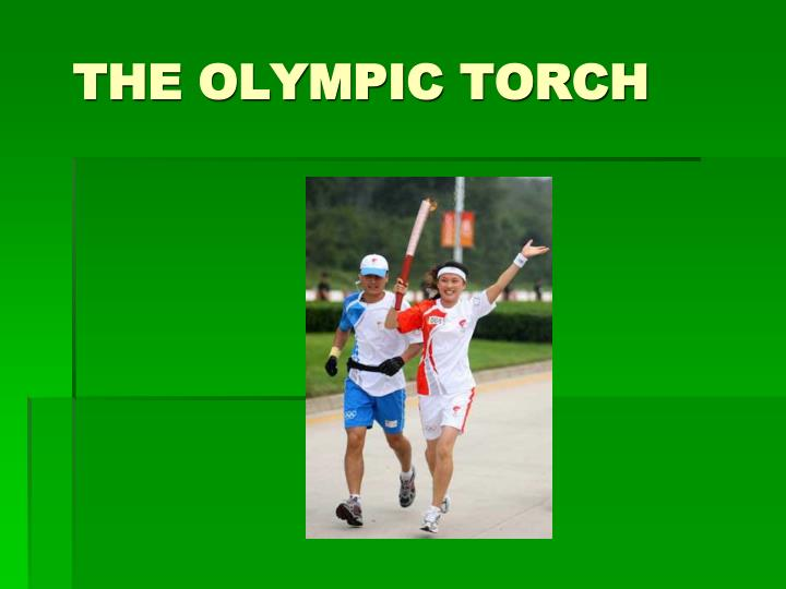 the olympic torch n.
