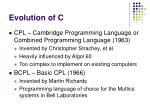 evolution of c