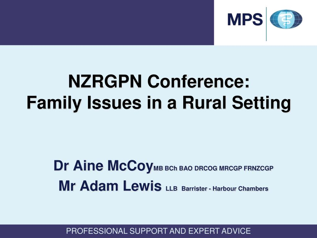 nzrgpn conference family issues in a rural setting l.
