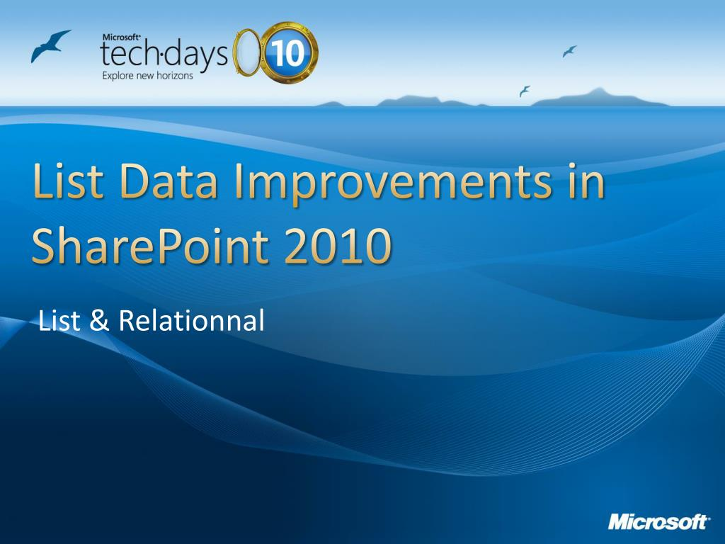 List Data Improvements in SharePoint 2010
