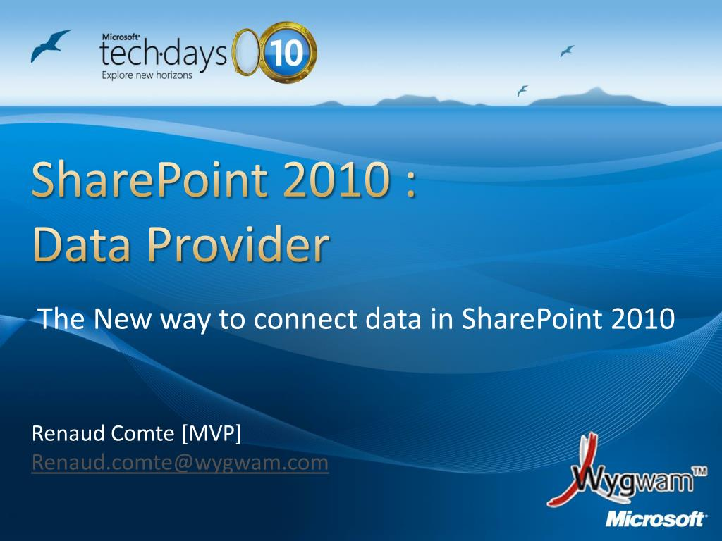 sharepoint 2010 data provider l.