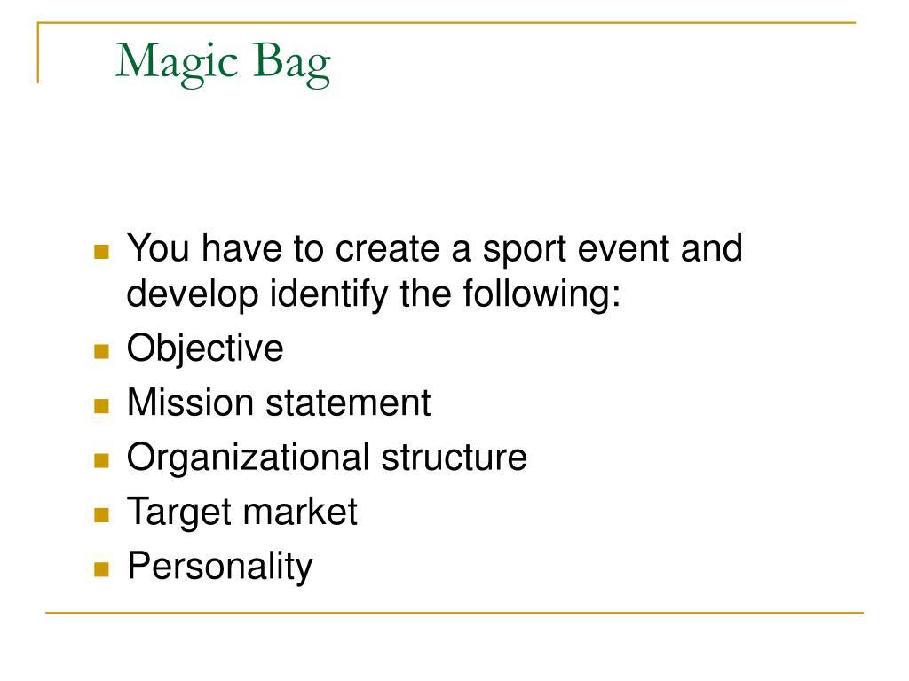 Magic Bag
