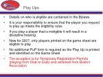 play ups