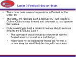 under 9 festival host or hosts