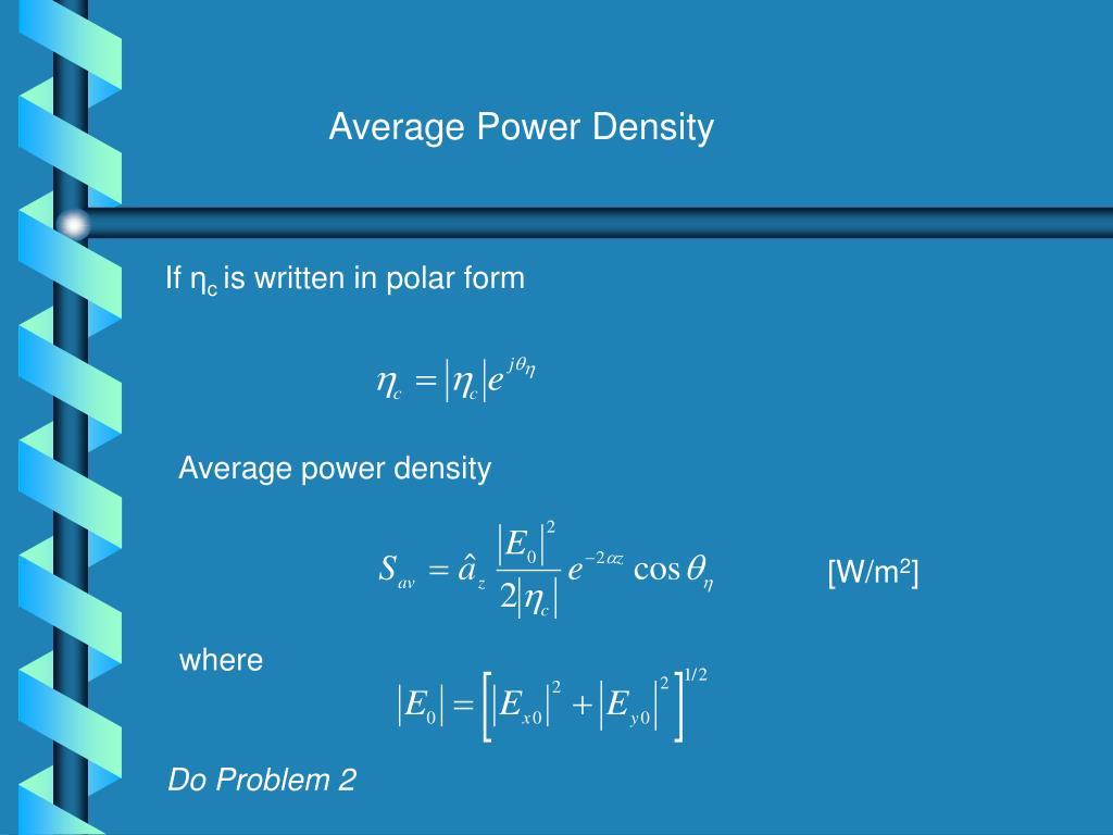 Average Power Density