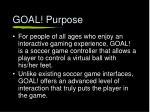 goal purpose