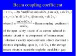 beam coupling coefficient14