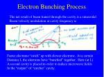 electron bunching process
