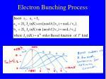 electron bunching process21