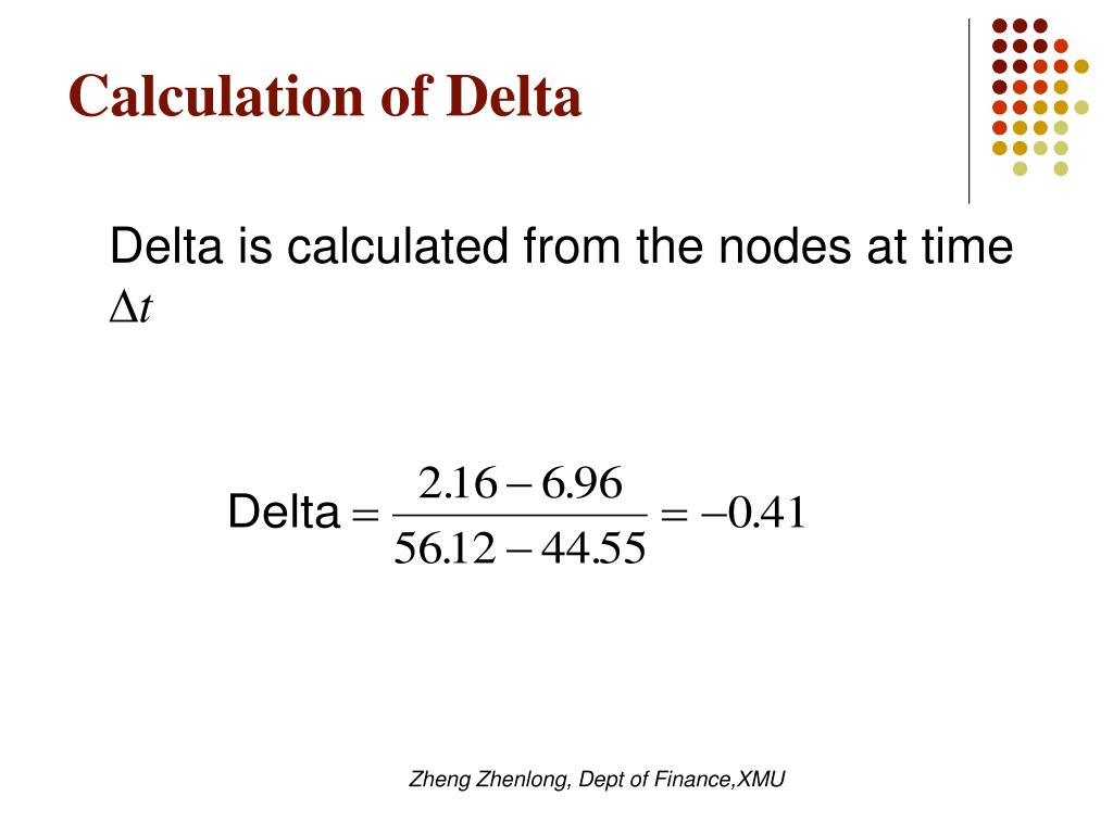 Calculation of Delta