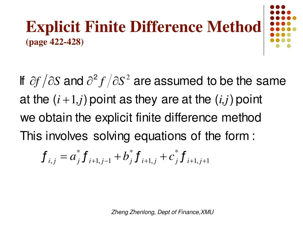 Explicit Finite Difference Method