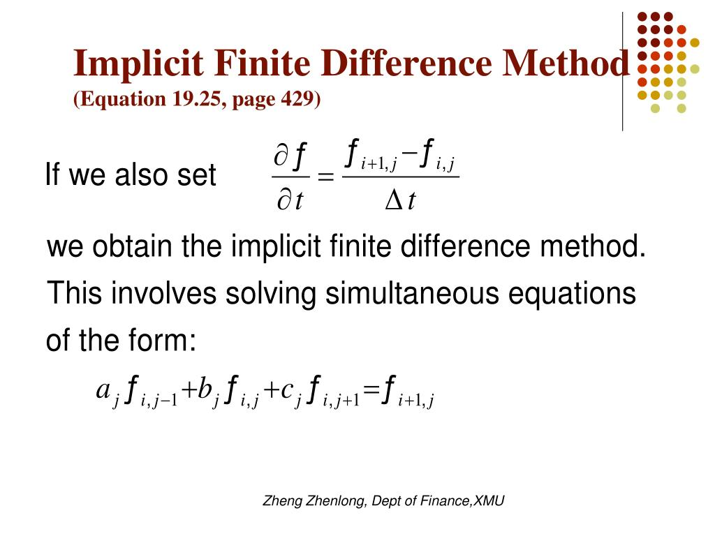Implicit Finite Difference Method