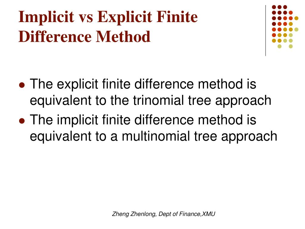 Implicit vs Explicit Finite Difference Method