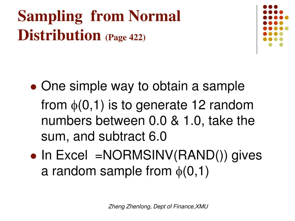 Sampling  from Normal Distribution