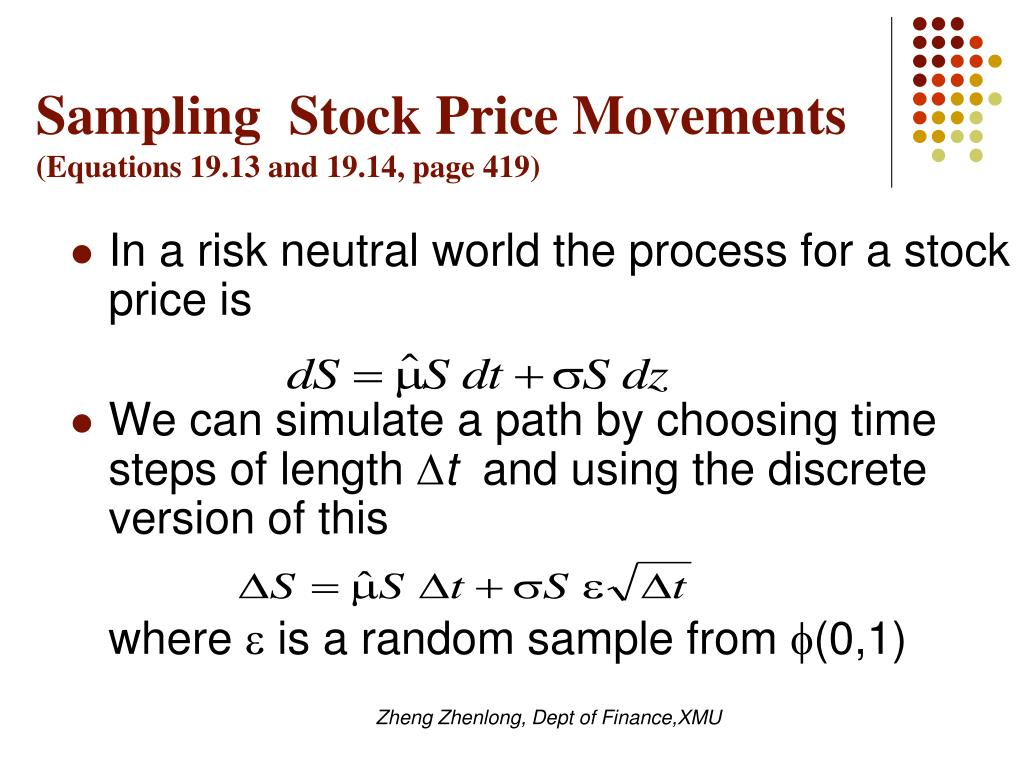 Sampling  Stock Price Movements