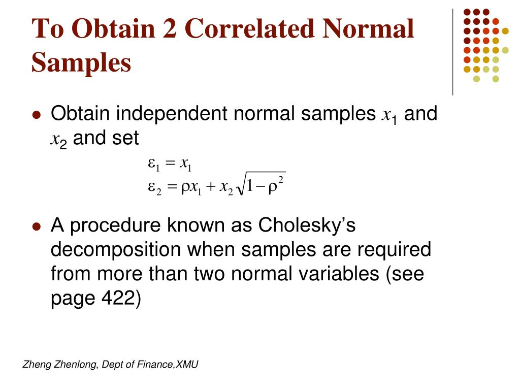 To Obtain 2 Correlated Normal Samples