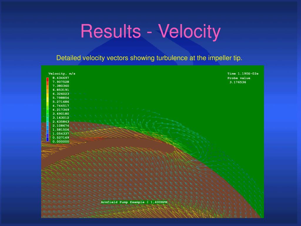 Results - Velocity