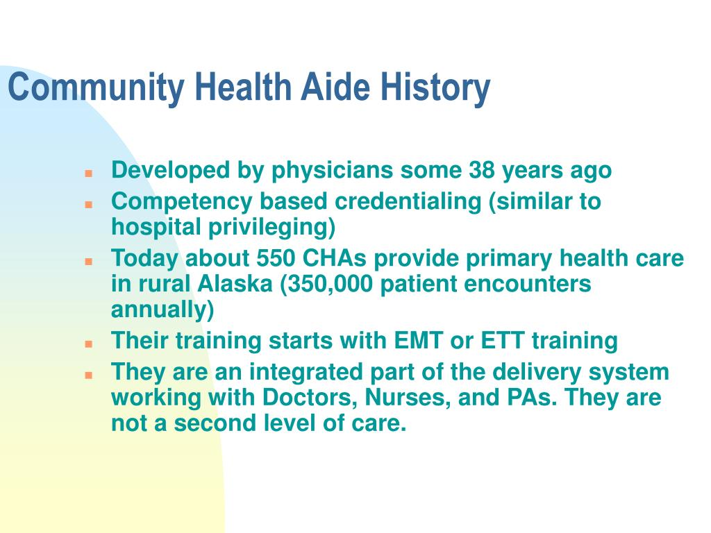 Community Health Aide History