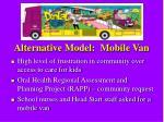 alternative model mobile van
