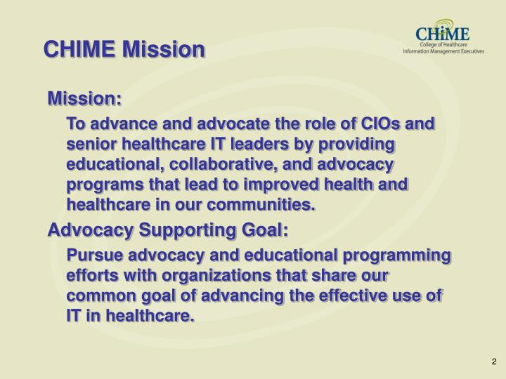 Chime mission