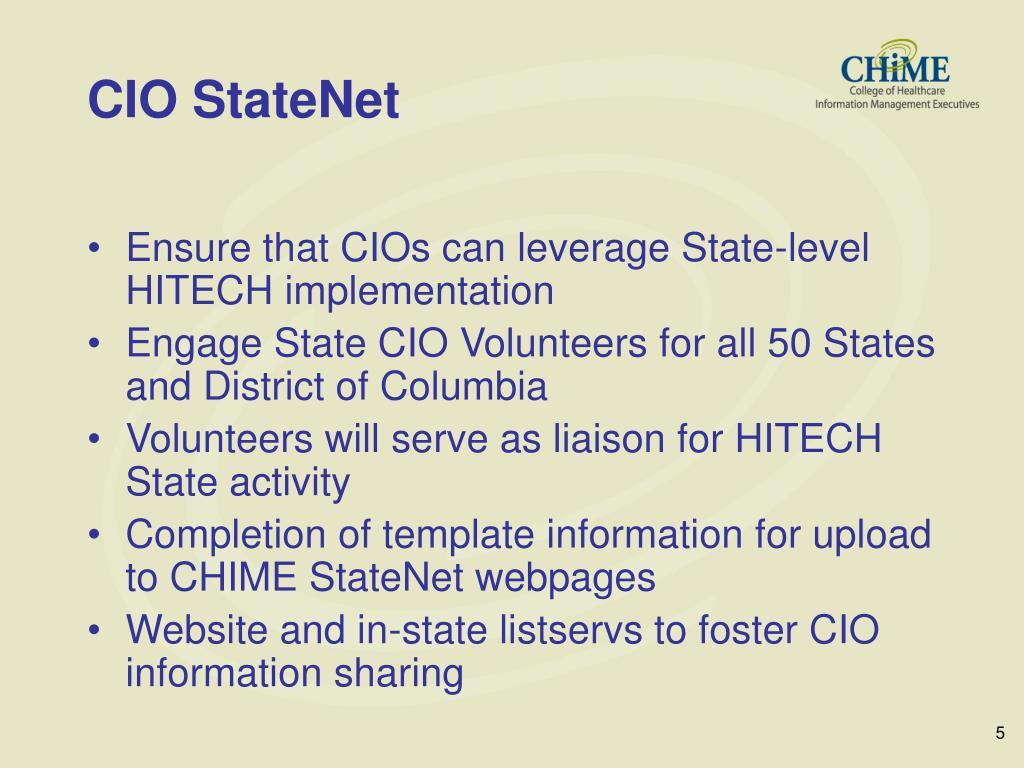 CIO StateNet