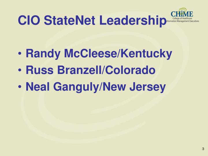 Cio statenet leadership