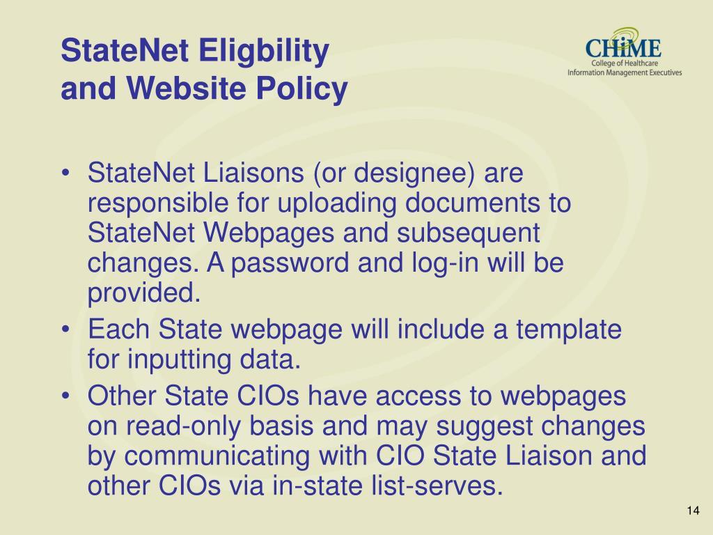StateNet Eligbility