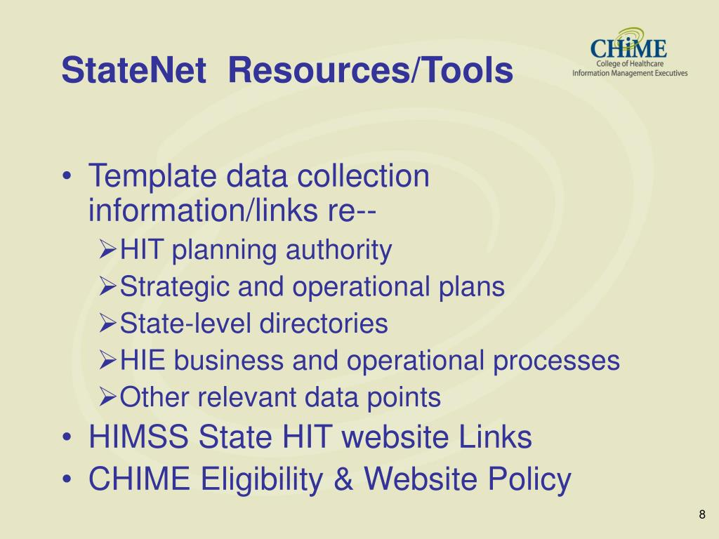 StateNet  Resources/Tools