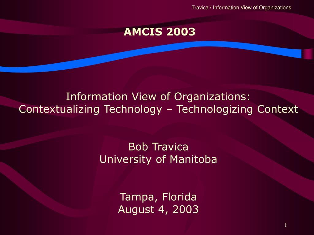 AMCIS 2003