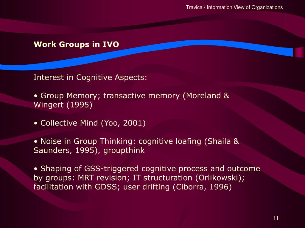 Work Groups in IVO
