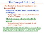 the dropped ball cont