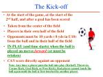 the kick off