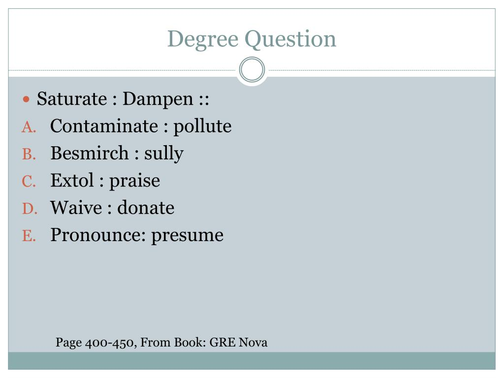 Degree Question