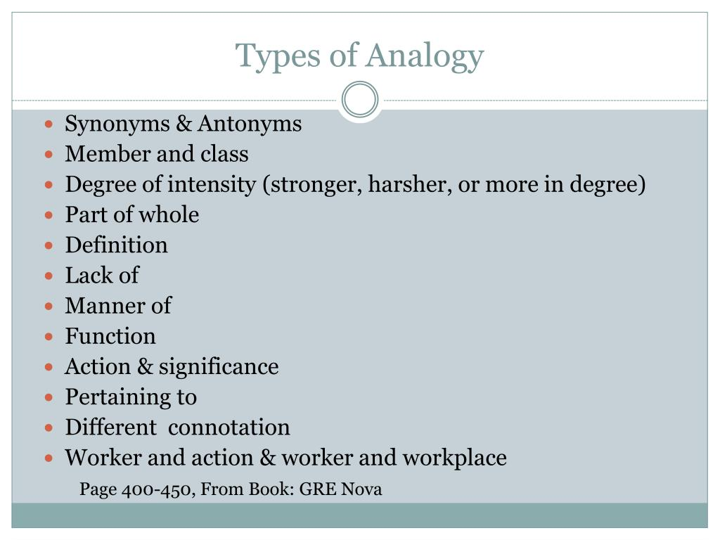 Types of Analogy