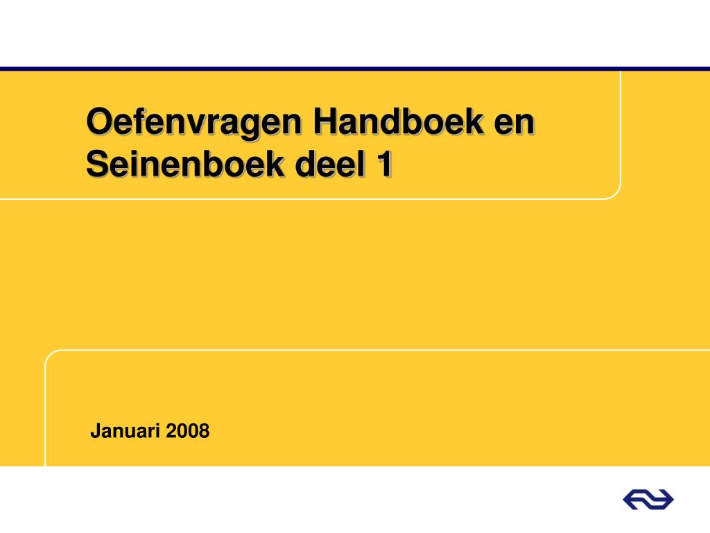 oefenvragen handboek en seinenboek deel 1 l.