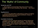 the myths of community